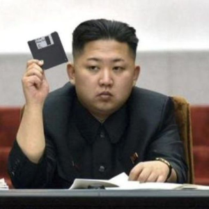 Kim Jong Un shows off a recent acquisition of the North Korea cyberwarfare division.